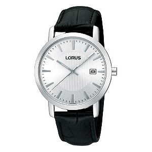 Lorus Men's Back Mock Croc Leather Strap Watch - Product number 9438203