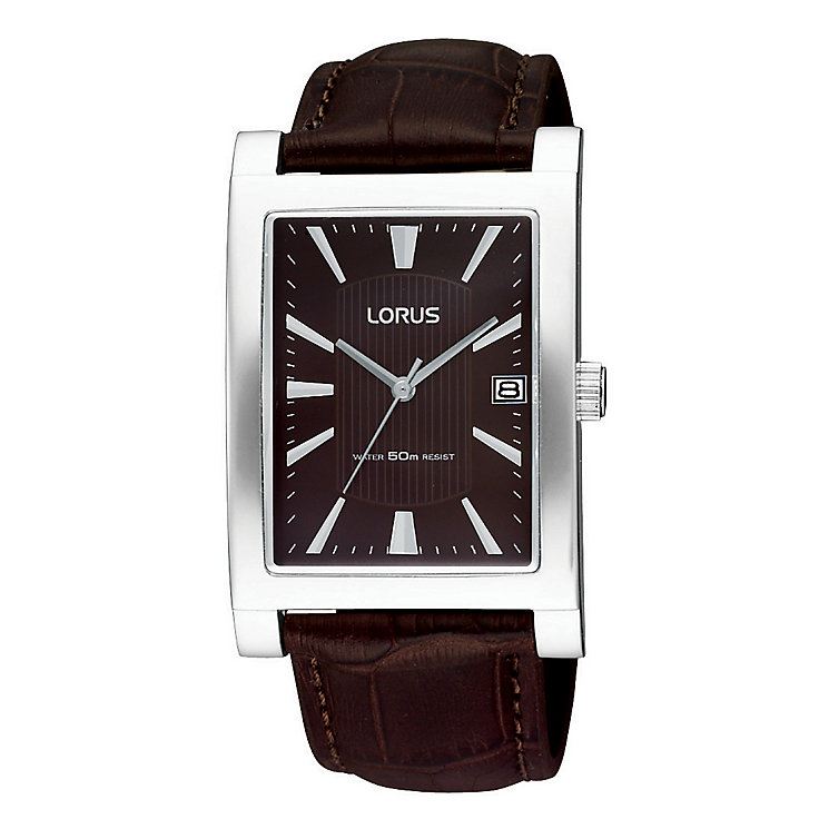 Lorus Men's Brown Mock Croc Strap Watch - Product number 9438513