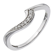 Perfect Fit 9ct White Gold Diamond Curved Wedding Band - Product number 9440046