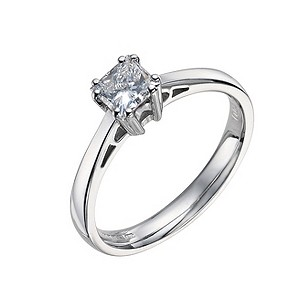 18ct white gold 2/3 carat diamond solitaire ring - Product number 9441220