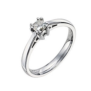 18ct white gold 0.38 carat diamond solitaire ring - Product number 9441360