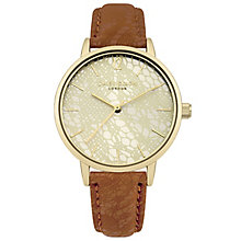 Daisy Dixon Mae Ladies' Brown Strap Watch - Product number 9443819