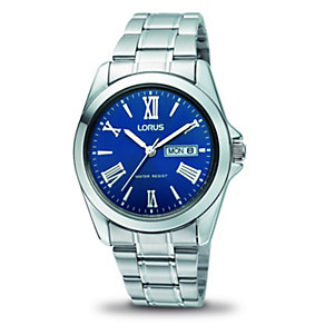 Lorus Men's Blue Date Dial Bracelet Watch - Product number 9443932