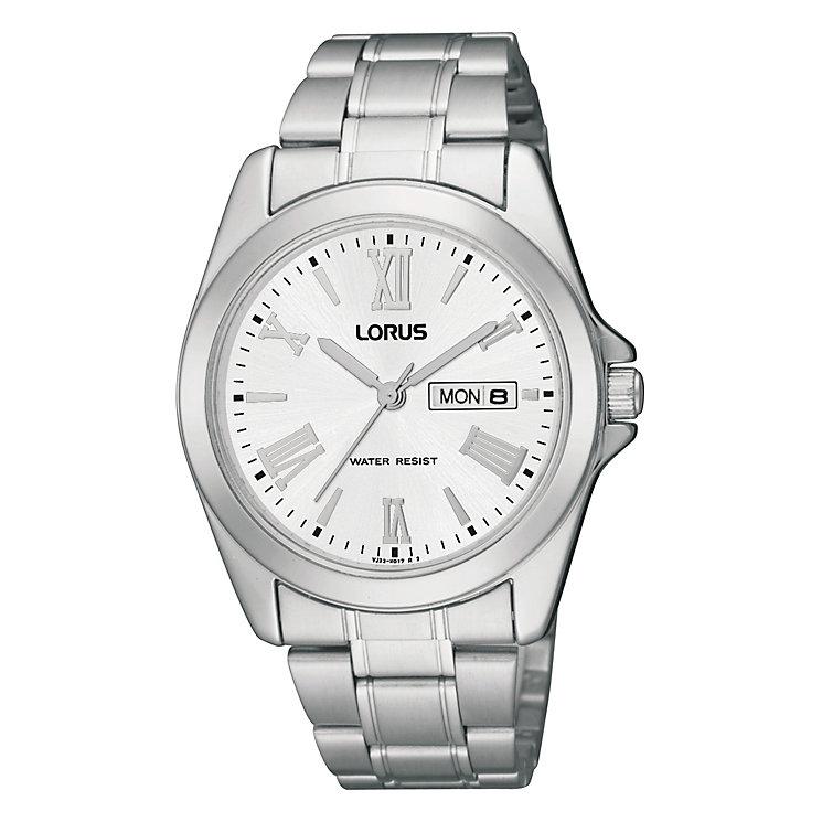 Lorus Men's Silver Date Dial Bracelet Watch - Product number 9443940