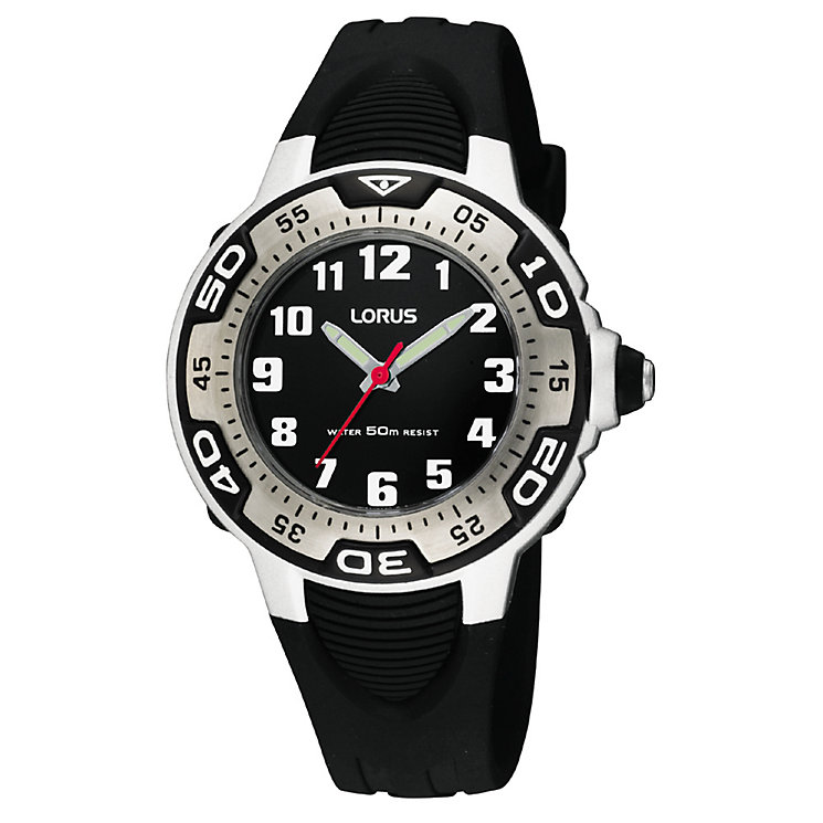 Lorus Boys Black Silicone Strap Watch - Product number 9443975