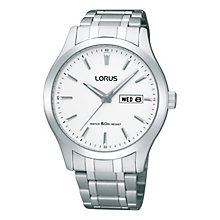 Lorus Men's White Dial Bracelet Watch - Product number 9444149