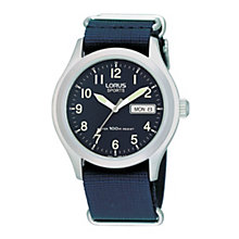 Lorus Sports Men's Blue Canvas Strap Watch - Product number 9444475