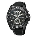 Lorus Men's Black Strap Chronograph Watch - Product number 9444505