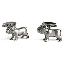 Simon Carter Bulldog Men's Stainless Steel Cufflinks - Product number 9445080