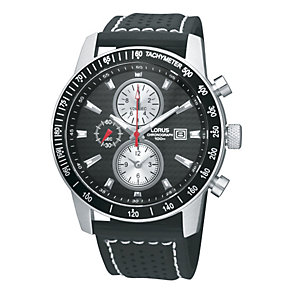 Lorus Men's Leather Chronograph Watch - Product number 9445552