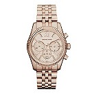 Michael Kors ladies' rose gold-plated bracelet watch - Product number 9445870