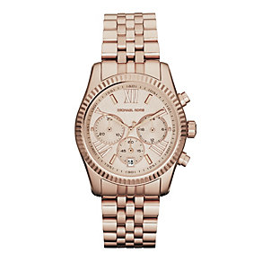 Michael Kors Ladies' Rose Gold Tone Bracelet Watch - Product number 9445870