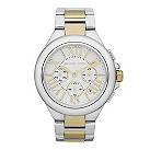Michael Kors ladies'  white dial two colour bracelet watch - Product number 9445889