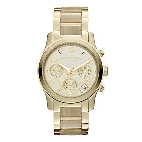 Michael Kors ladies' gold-plated & alabaster bracelet watch - Product number 9445919