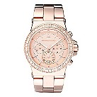 Michael Kors ladies' rose gold-plated stone set watch - Product number 9445943
