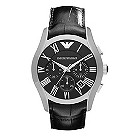 Emporio Armani men's chronograph black dial watch - Product number 9446117
