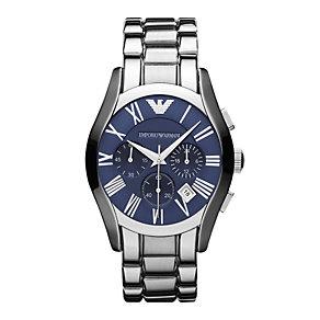 Emporio Armani men's chronograph blue dial bracelet watch - Product number 9446125