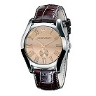 Emporio Armani men's rose gold dial watch - Product number 9446133