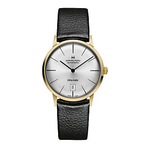 Hamilton men's automatic silver dial & black strap watch - Product number 9446451