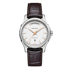 Hamilton men's brown leather strap watch - Product number 9446478