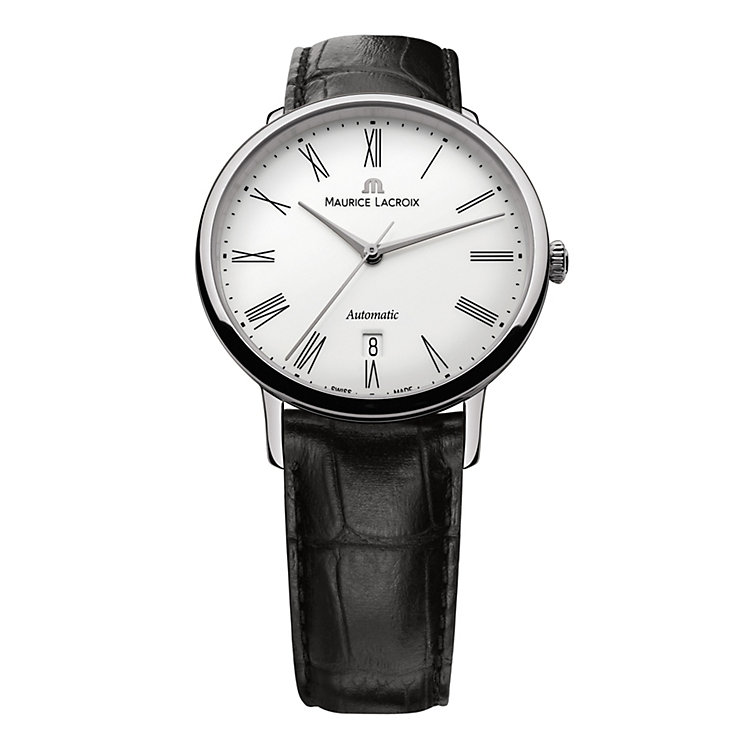 Maurice Lacroix men's black strap automatic watch - Product number 9446745