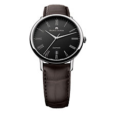 Maurice Lacroix men's black dial automatic strap watch - Product number 9446753