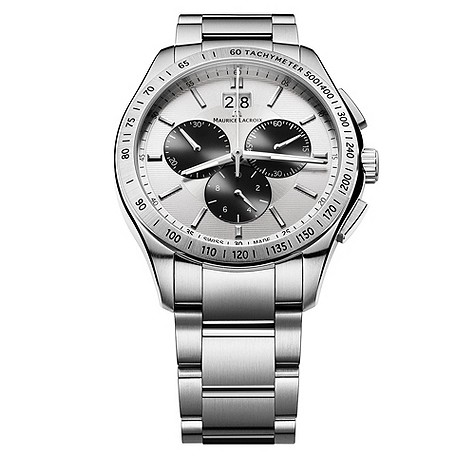 Maurice Lacroix men's stainless steel chronograph watch