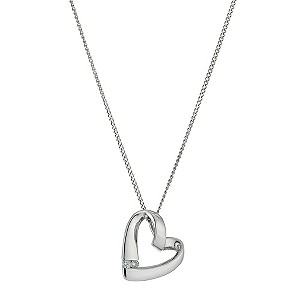 Silver diamond heart pendant - Product number 9446915