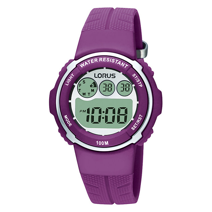 lorus children s purple digital h samuel