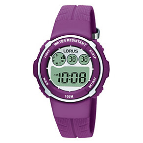 Lorus Children's Purple Strap Digital Watch - Product number 9447644