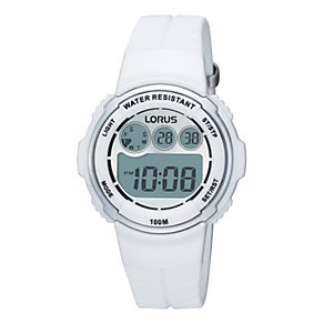 Lorus Children's White Strap Digital Watch - Product number 9447652