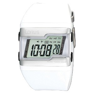 Lorus Ladies' White Strap Watch - Product number 9447806