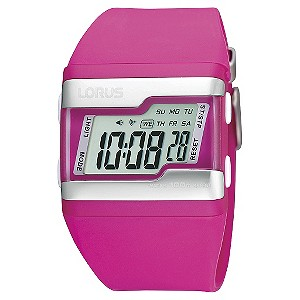 Lorus Ladies' Pink Digital Watch - Product number 9447814