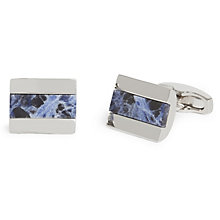 Simon Carter Sodalite Men's Rectangular Cufflinks - Product number 9448462