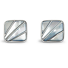 Simon Carter Deco Men's Blue Fan Cufflinks - Product number 9448470