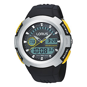 Lorus Black & Yellow Trim Digital Dial watch - Product number 9449469