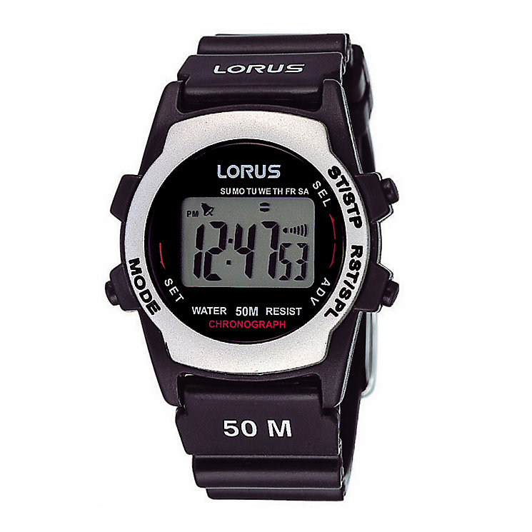 Lorus Men's Black Multi Digital Watch - Product number 9450300