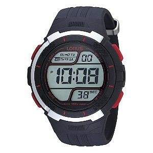 Lorus Men's Dark Blue Digital Watch - Product number 9450386