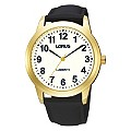 Lorus Lumibrite Men's Black Strap Watch - Product number 9450726