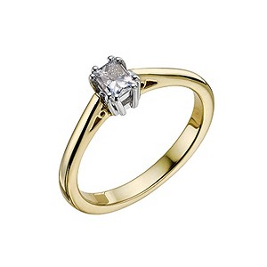 18ct gold quarter carat diamond solitaire ring - Product number 9451102