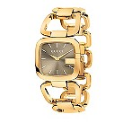 Gucci ladies' yellow gold plated GG bracelet watch, large - Product number 9452133