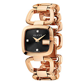 Gucci G-Gucci ladies' small rose gold plated  bracelet watch - Product number 9452176