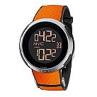 Gucci I-Gucci men's black dial orange rubber strap watch - Product number 9452230