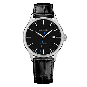 Ebel C100 men's stainless steel black strap watch - Product number 9453482