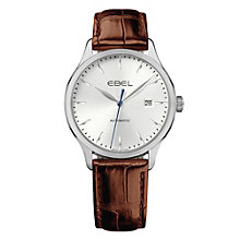 Ebel Onde men's stainless steel brown strap watch - Product number 9453490