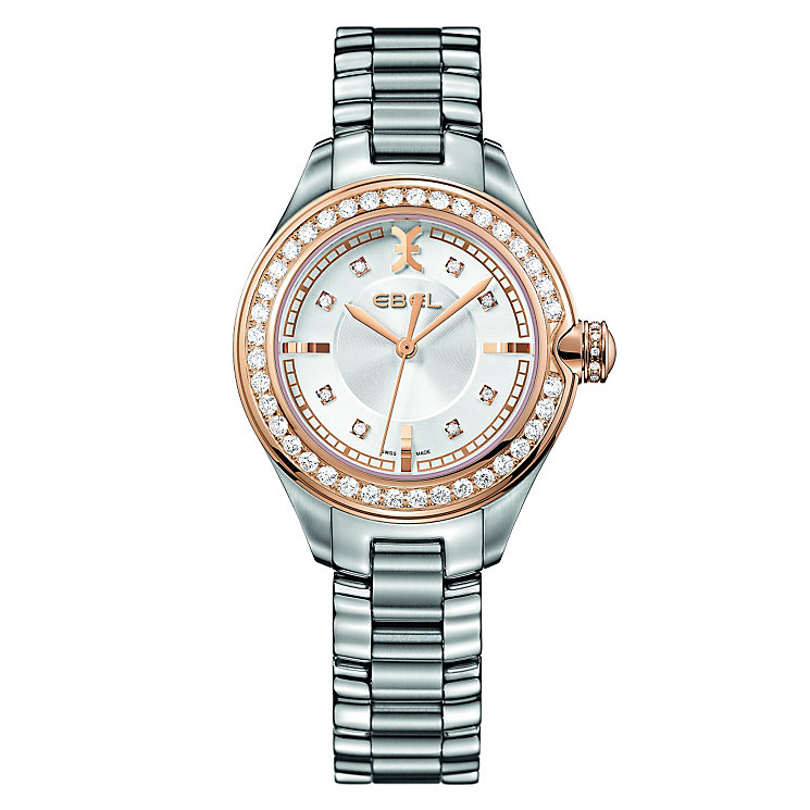 Ebel Onde ladies' rose gold bezel bracelet watch - Product number 9453938
