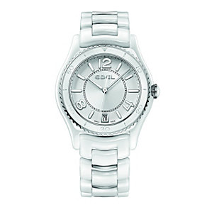 Ebel ladies' white ceramic & stainless steel bracelet watch - Product number 9454004
