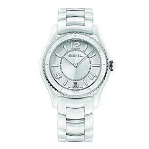 Ebel ladies' white ceramic & stainless steel bracelet watch - Product number 9454004