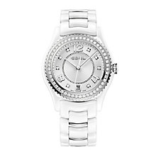 Ebel ladies' white ceramic & stainless steel diamond watch - Product number 9454012