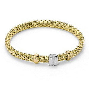 Fope Vendrome Flex-It 18ct yellow gold & diamond bracelet - Product number 9454047